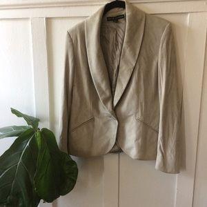 Ralph Lauren suede blazer jacket 10 EUC